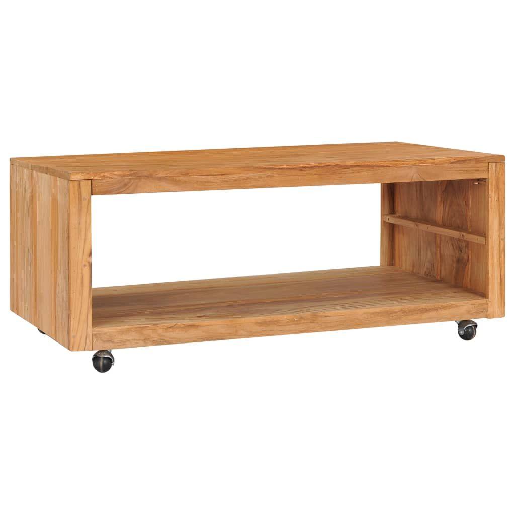 ZNTS Coffee Table 110x60x40 cm Solid Teak Wood 288895