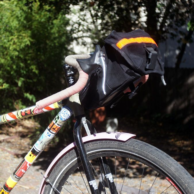 Carradice Seat Bag As A Bar On Fat Tired Road Bike With