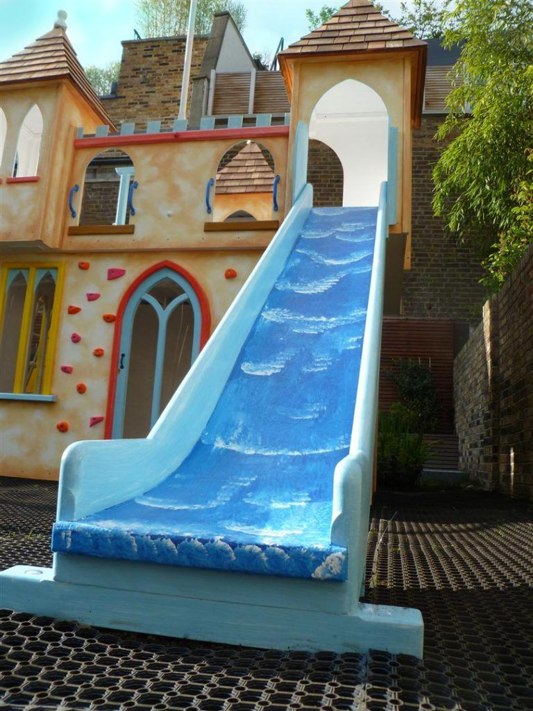 Water Slide Play Castle Water slides, Play houses, House