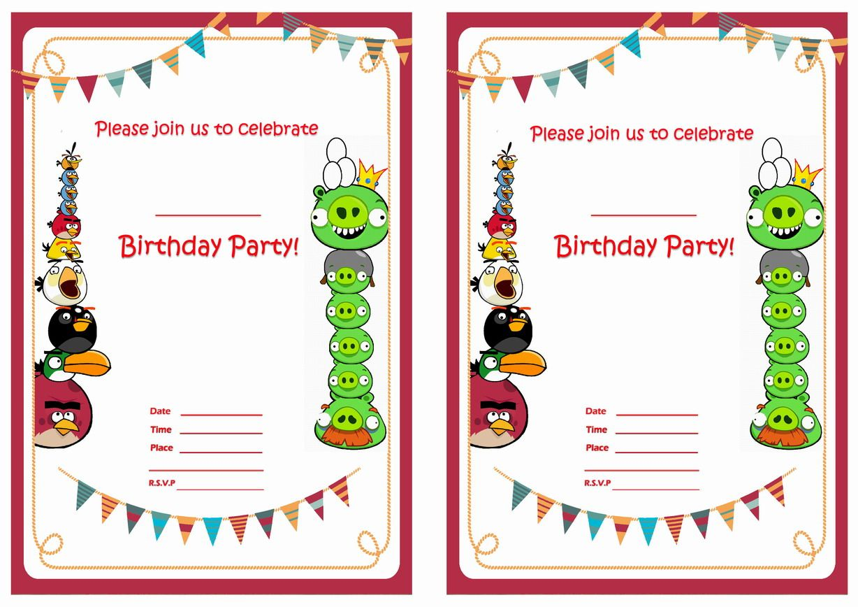 angry_birds_birthday_invitation1 | Places to Visit | Pinterest ...
