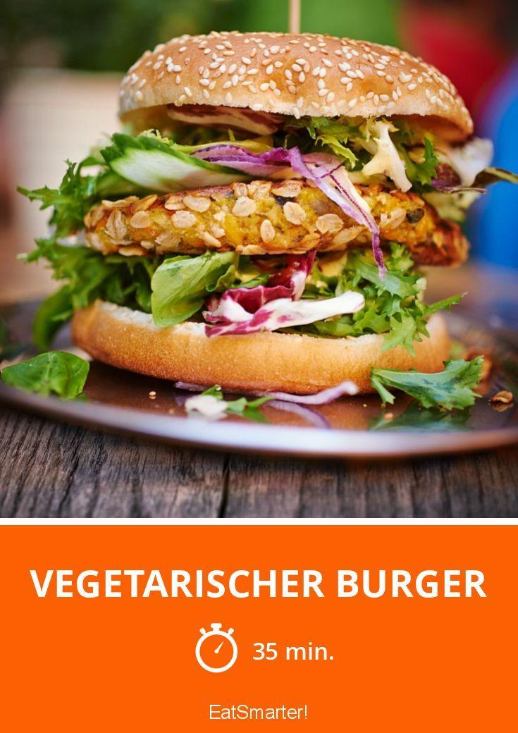 vegetarischer burger rezept herzhaft ohne fleisch pinterest vegetarisch vegetarische. Black Bedroom Furniture Sets. Home Design Ideas