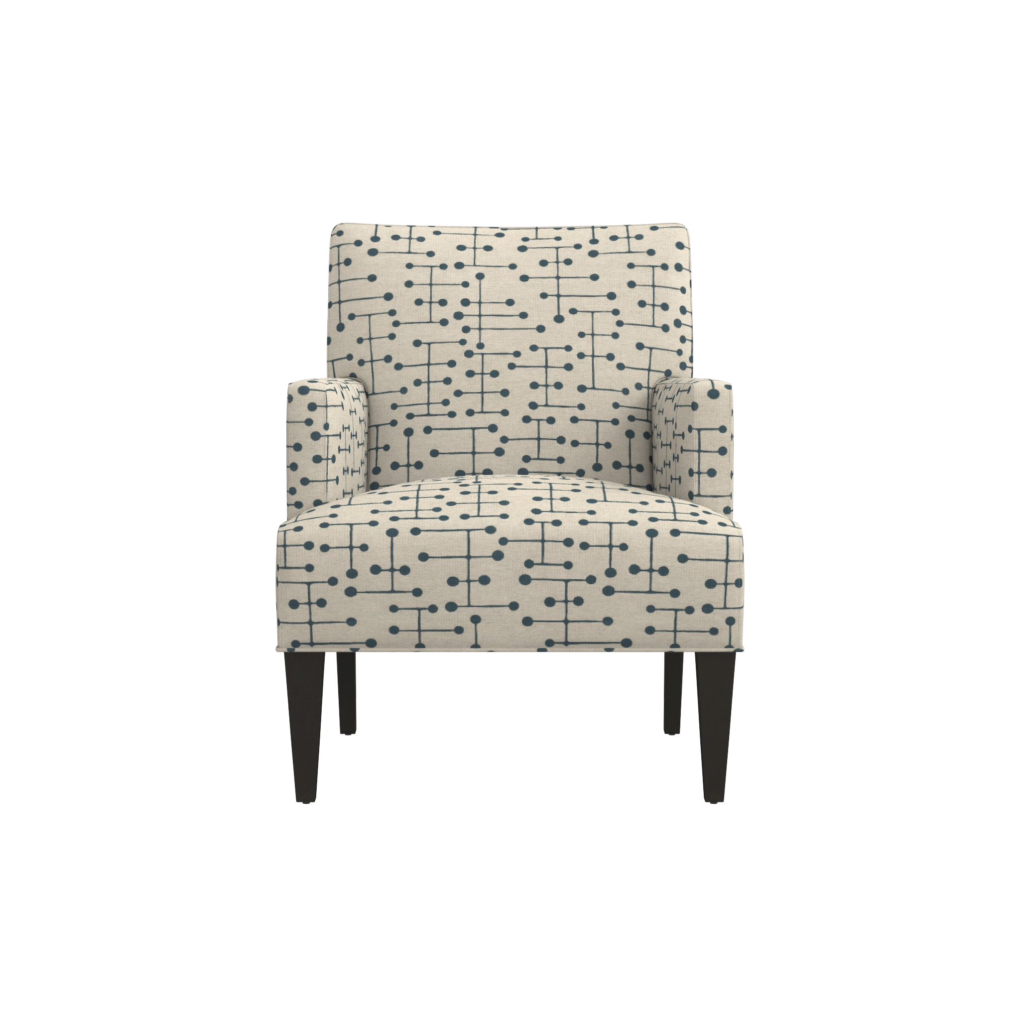 Shop Red Striped Accent Chair. | brick house | Chair, Accent ...