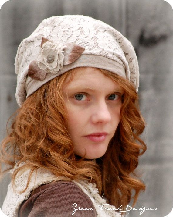 French Lace Slouch Beret by GreenTrunkDesigns on Etsy