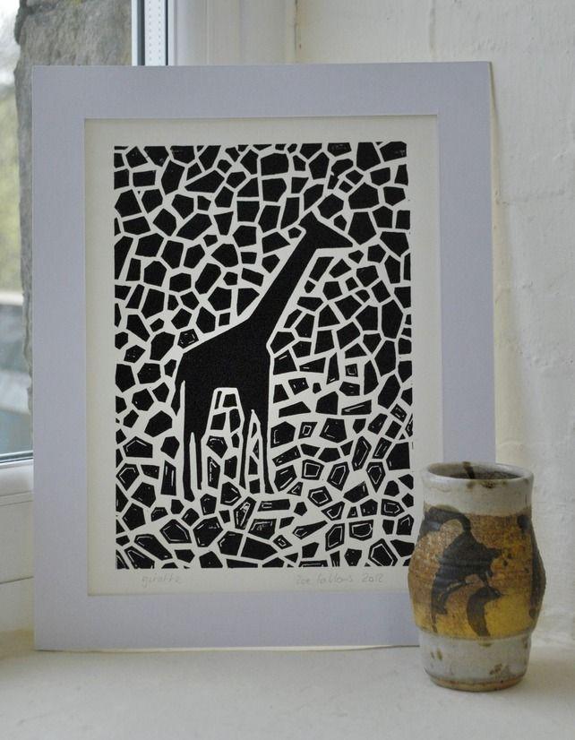Giraffeu0027 - Original lino cut print £1500 3 available LINOCUT - griffe für küche