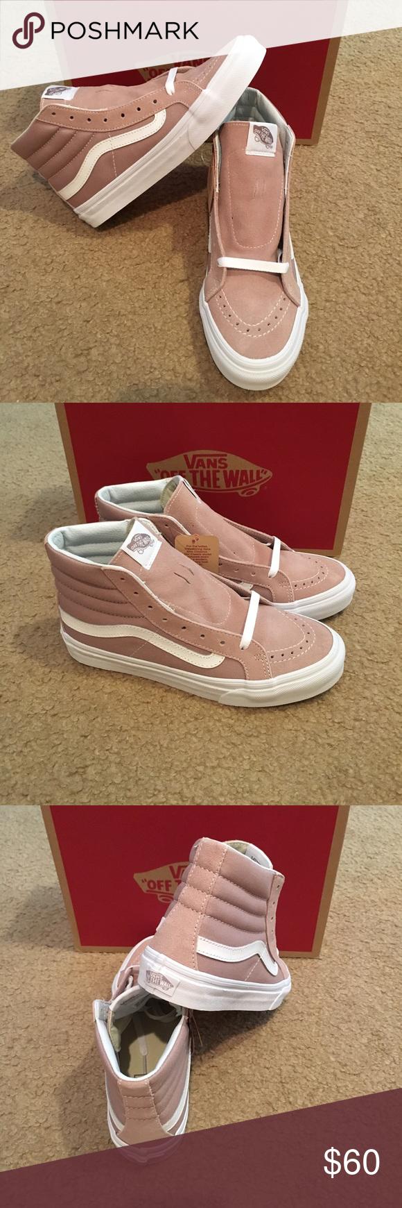 c443b18b44 Suede Canvas SK8Hi Slim Vans New in box. Fawn True white Vans Shoes
