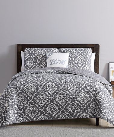 Exceptional Gray U0026 White Deniro Four Piece Quilt Set By S.L. Home Fashions #zulilyfinds  | Home Decor | Pinterest | Bedrooms And Room