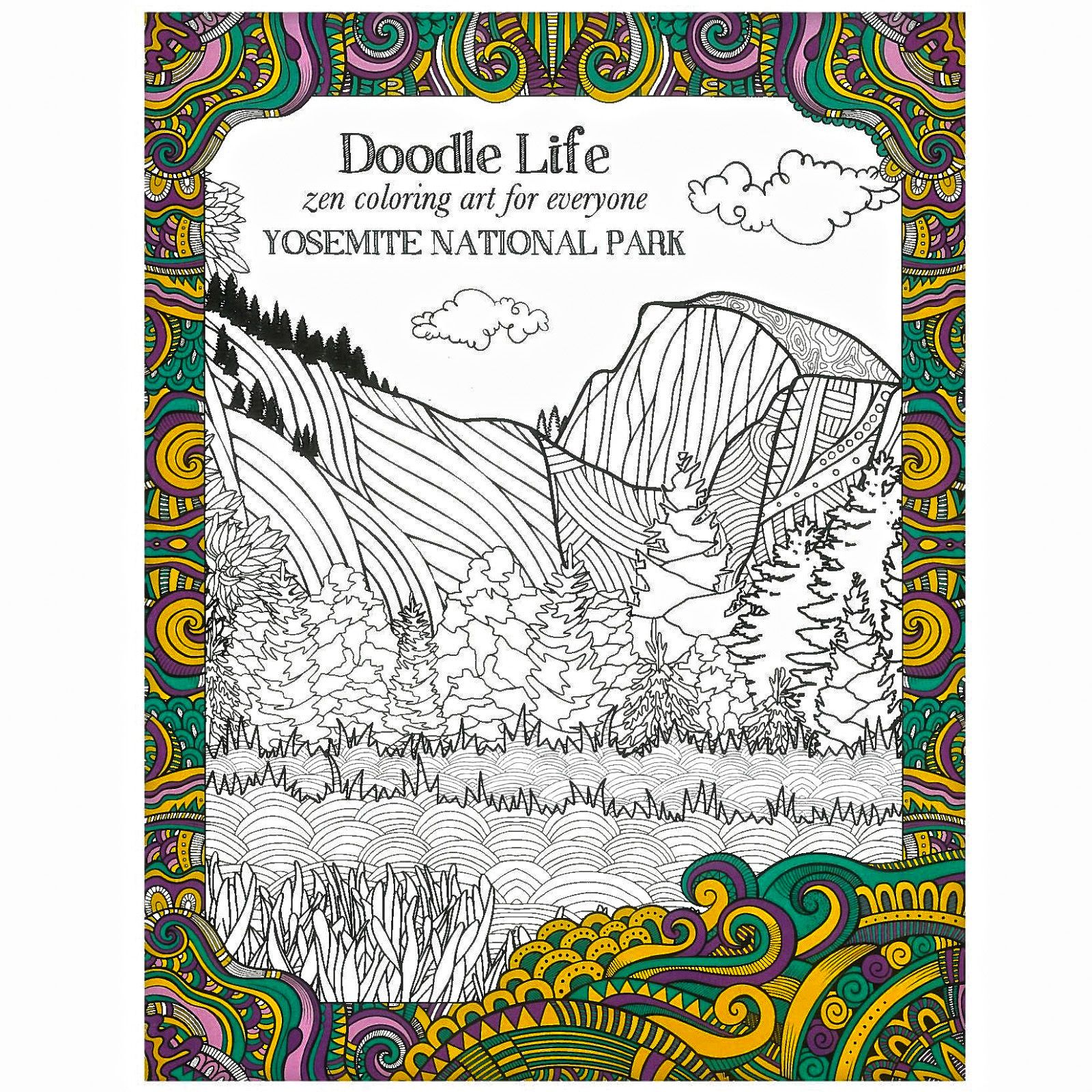 This 24 Page Coloring Book Features Your Favorite Yosemite Icons Like Half Dome And
