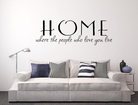 home where the people who love you live wall decal custom wall