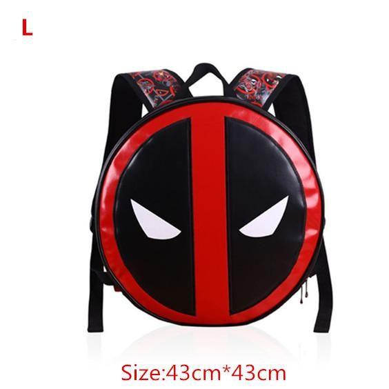 Marvel Comic Deadpool Captain America Backpack Laptop Travel Bag School Bags