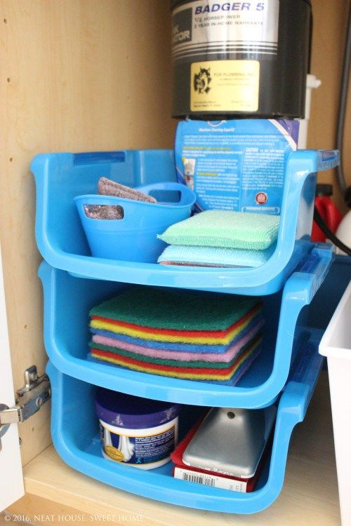Kitchen Sink Stores How to organize under the kitchen sink with dollar store bins how to organize under the kitchen sink with dollar store bins workwithnaturefo