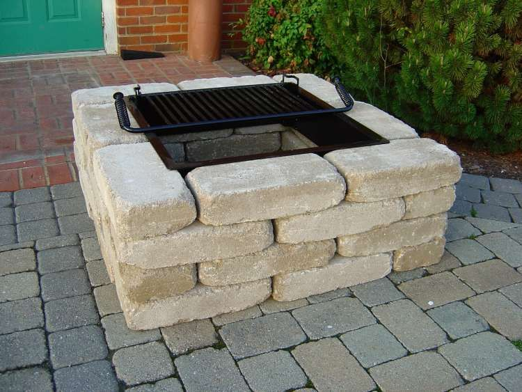 Fire Pit Ideas Cheap Square Fire Pit Kit From Southern Tradition
