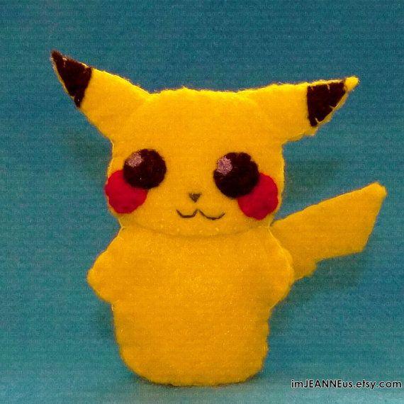 Pikachu Pokemon Finger Puppet on Etsy
