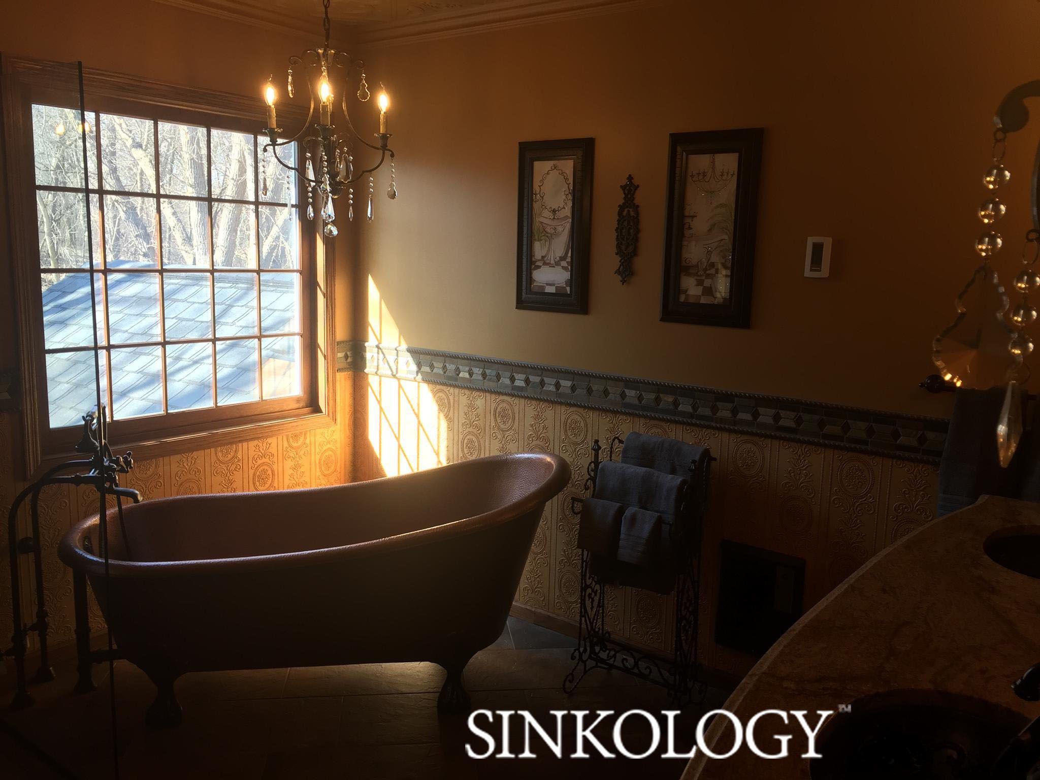 Sinkology the heisenberg copper clawfoot bathtub house projects