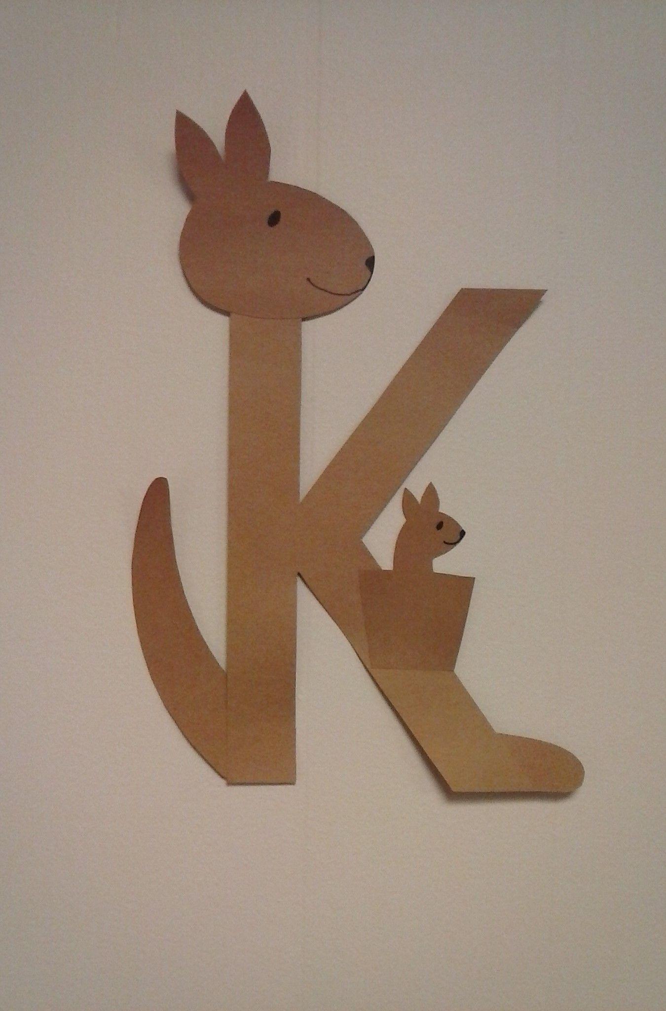 preschool letter k      k is for kangaroo
