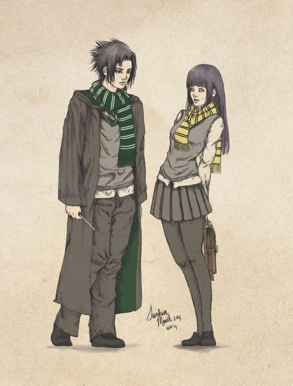 Sasuhina Harry Potter Crossover By Foxymcfly On Deviantart Sasuhina Harry Potter Crossover Naruto Gaiden