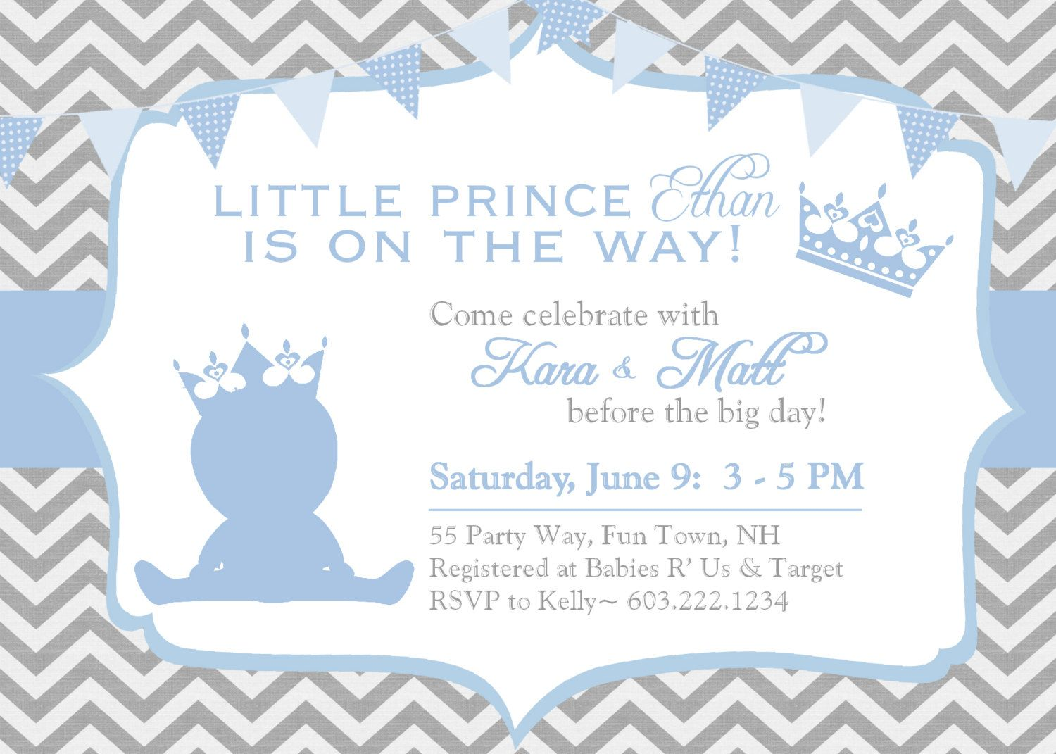 Prince Themed Baby Shower Invitations Free