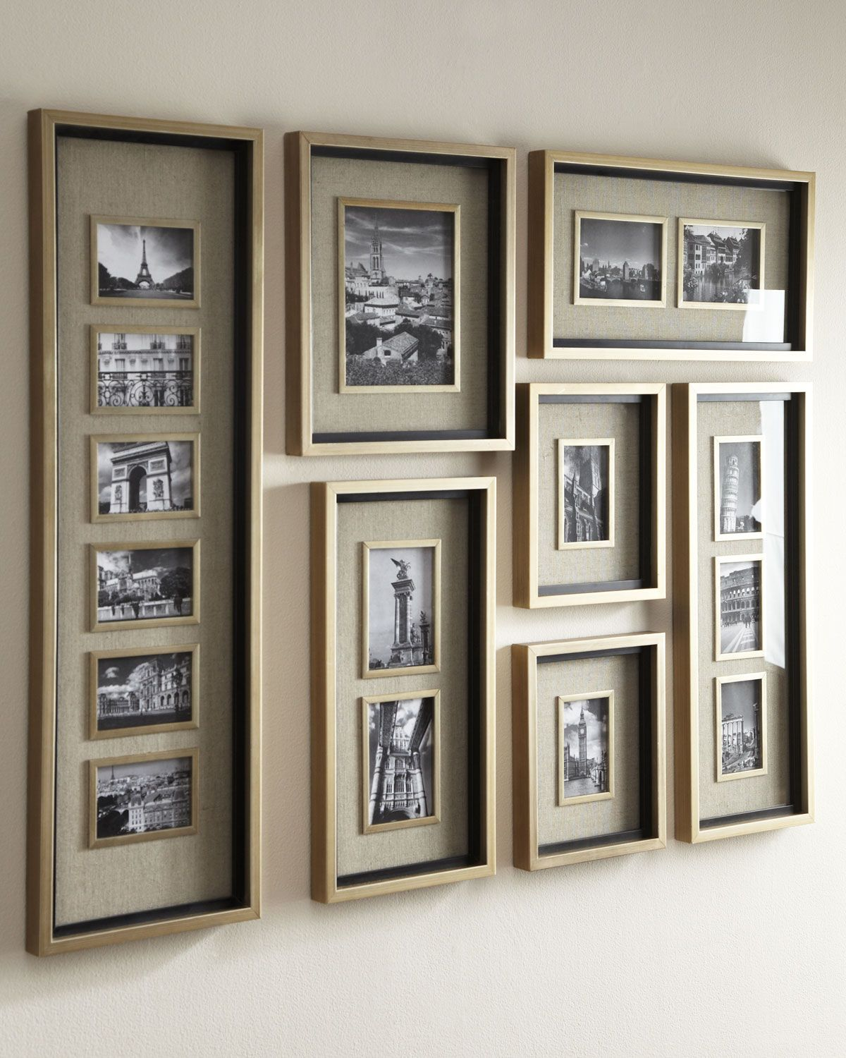 Massena collage picture frame gallery wood composite matte handcrafted frame set made of fir and wood composite lightly antiqued silver leaf jeuxipadfo Image collections