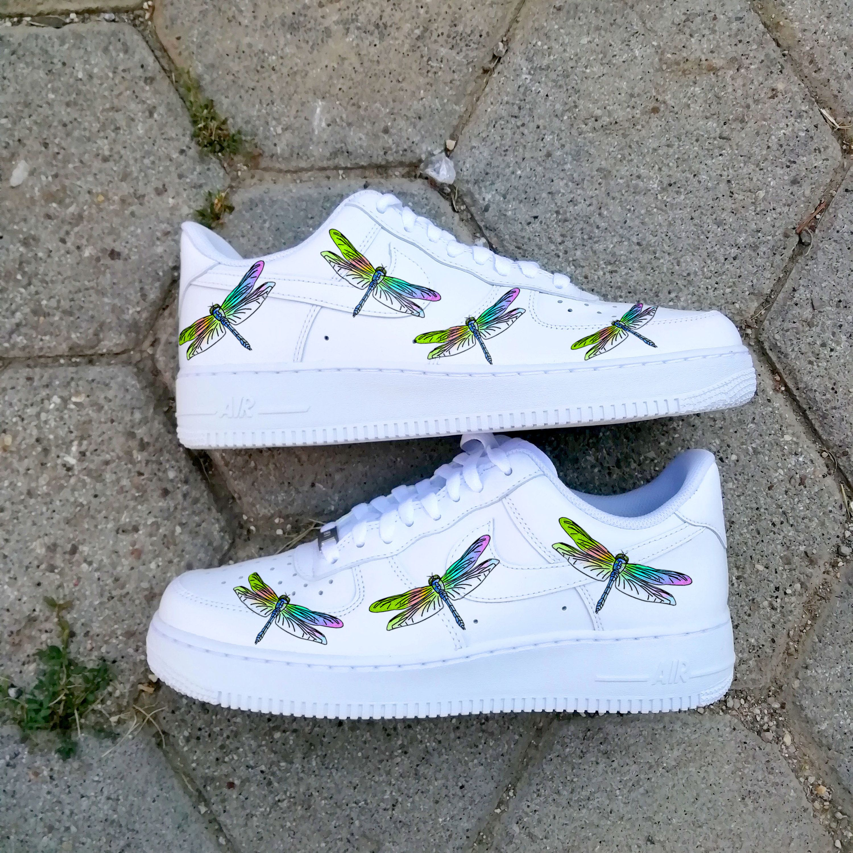 Dragonfly Air force one ,custom sneaker ,custom air force 1 ...