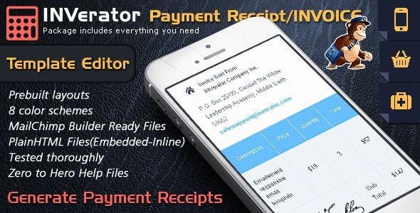 Invoice Template Receipt Email Mailchimp Editor Ready Invoice Template Invoice Layout Invoice Creator