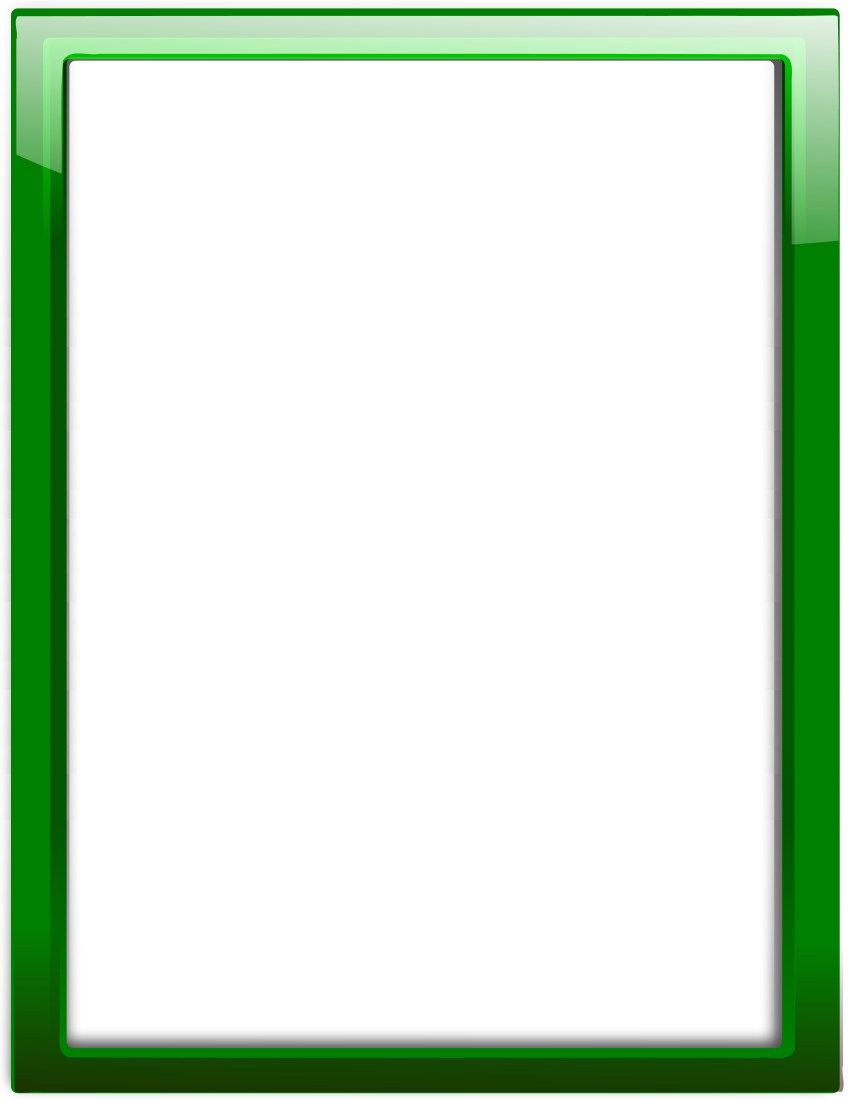 glass frame green vertical