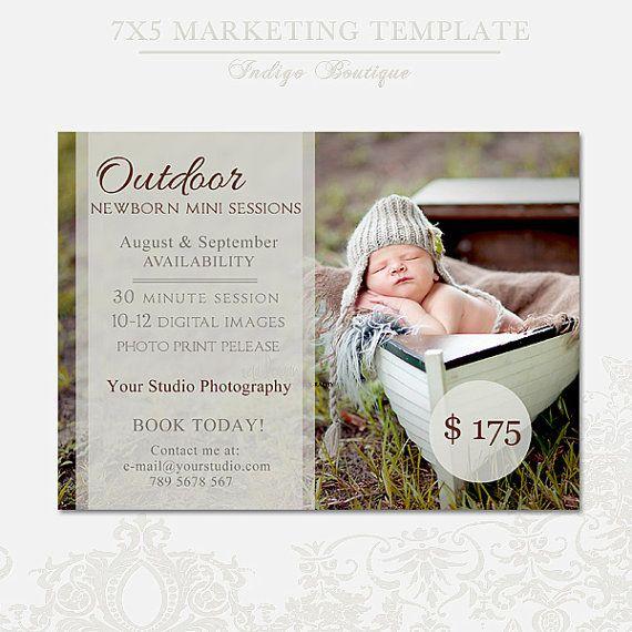 Newborn Mini Sessions Template - Photography Marketing Board - 011 ...