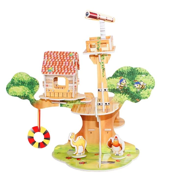 3D Puzzle Diy Building Construction Toys Card Model ...