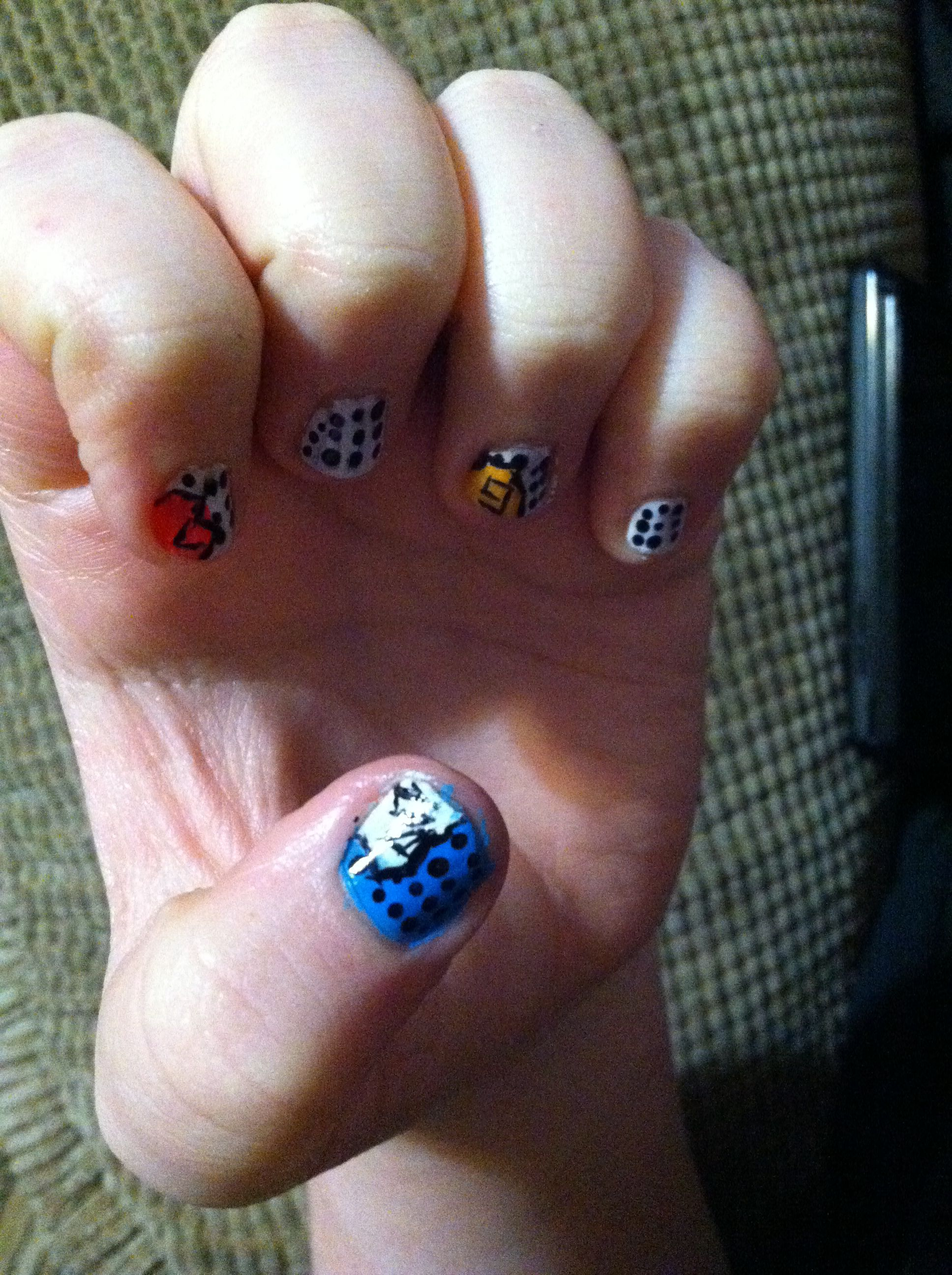 Her nails where a little short