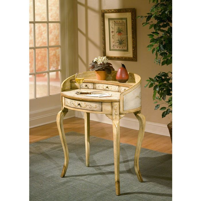 Artists' Originals Collection Small Antique-Style Ladies Writing Desk Am I  the only one - Artists' Originals Collection Small Antique-Style Ladies Writing