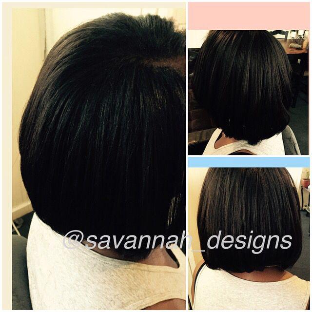 Sew in extensions w/ natural side part. Foundation nourished with savannahs garden hair oil   Savannahsgarden.Biz