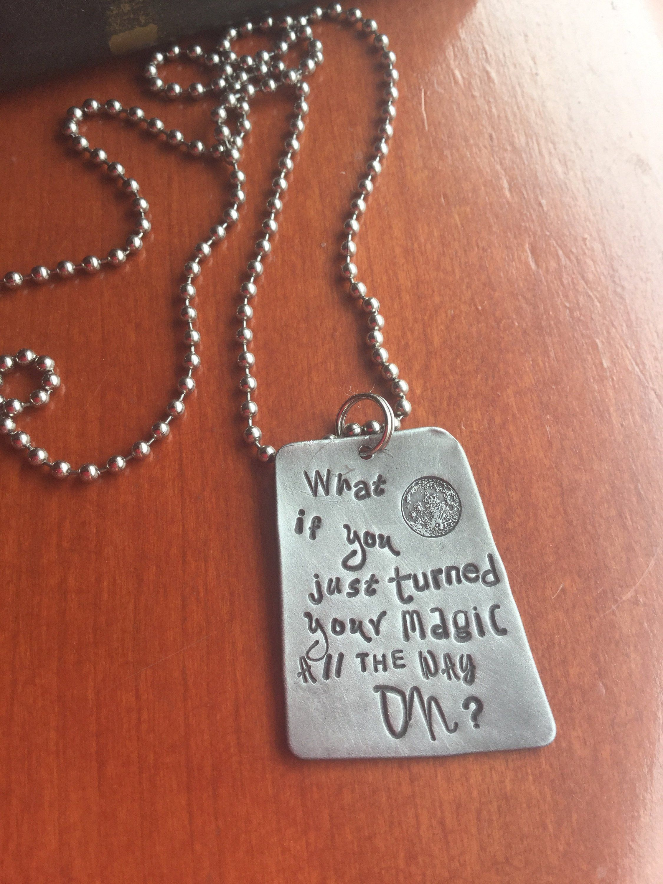 Inspirational Hand Stamped Jewelry Unique quote Necklace