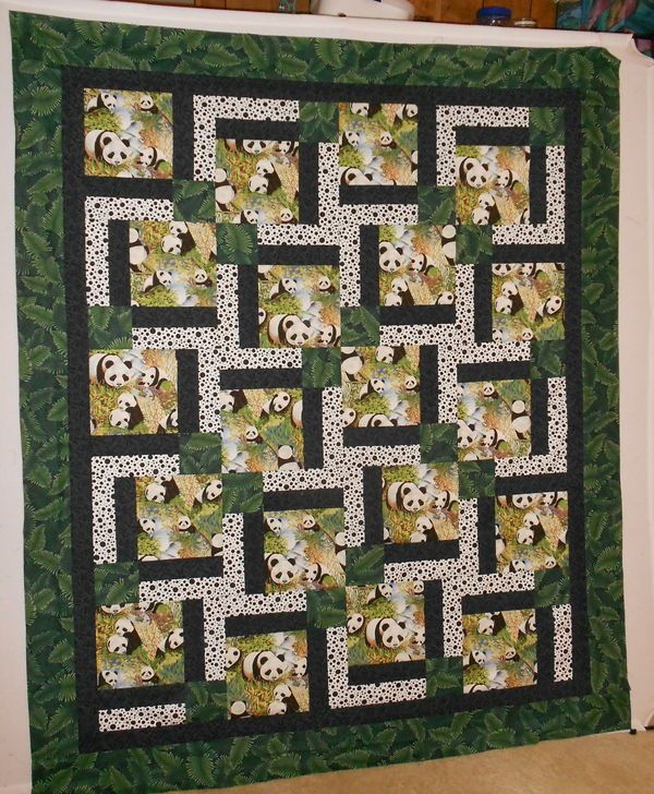 Awesome Ideas For Those Novelty Fabrics Am So Trying This One Panda Quilt Panel Quilts Bear Quilts
