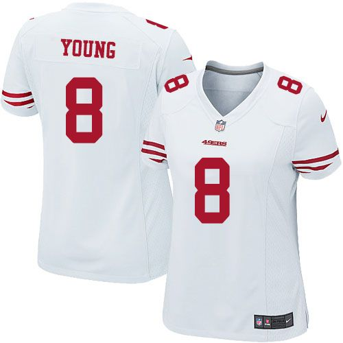 Steve Young Elite Jersey-80%OFF Nike Steve Young Elite Jersey at 49ers  Shop. (Elite Nike Women s Steve Young White Jersey) San Francisco 49ers  Road  8 NFL ... b4edcb10d