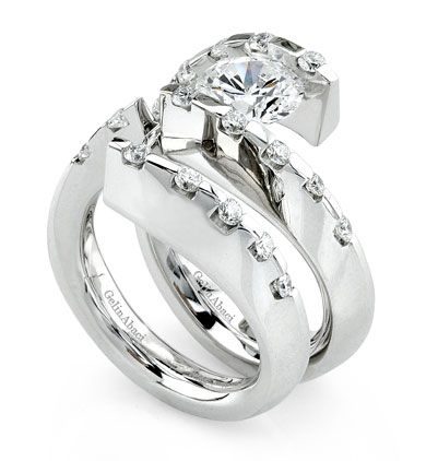 Gelin Abaci Tension Set Rings Gelin Abaci Tension Collection