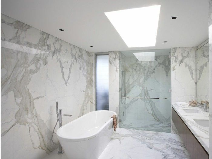 Le carrelage en marbre en 42 photos int rieur en marbre for Carrelage effet marbre