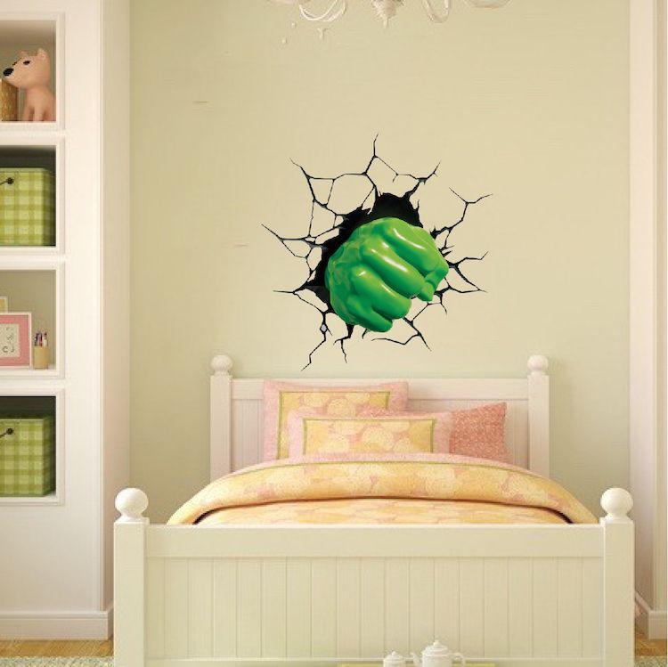 Green Fist Smash Wall Decal - Superhero Wall Design - Kids Smash ...