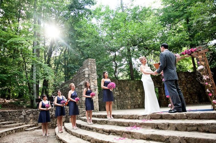 Wedding Ceremony At The Forest Theater On Campus Of Unc Chapel Hill