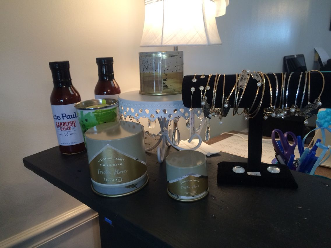 Candles by Illume, jewelry and our very own BBQ Sauce!  Come see us or order online at Balyssasboutique.com