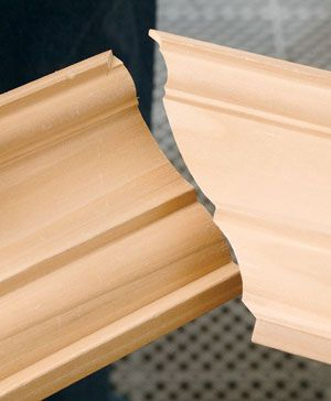 The Secret To Coping Crown Molding Woodworking Joints Woodworking Wood