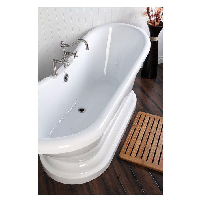 Aqua Eden 69\'\' x 28\'\' Freestanding Soaking Bathtub | Bathtubs, Wall ...