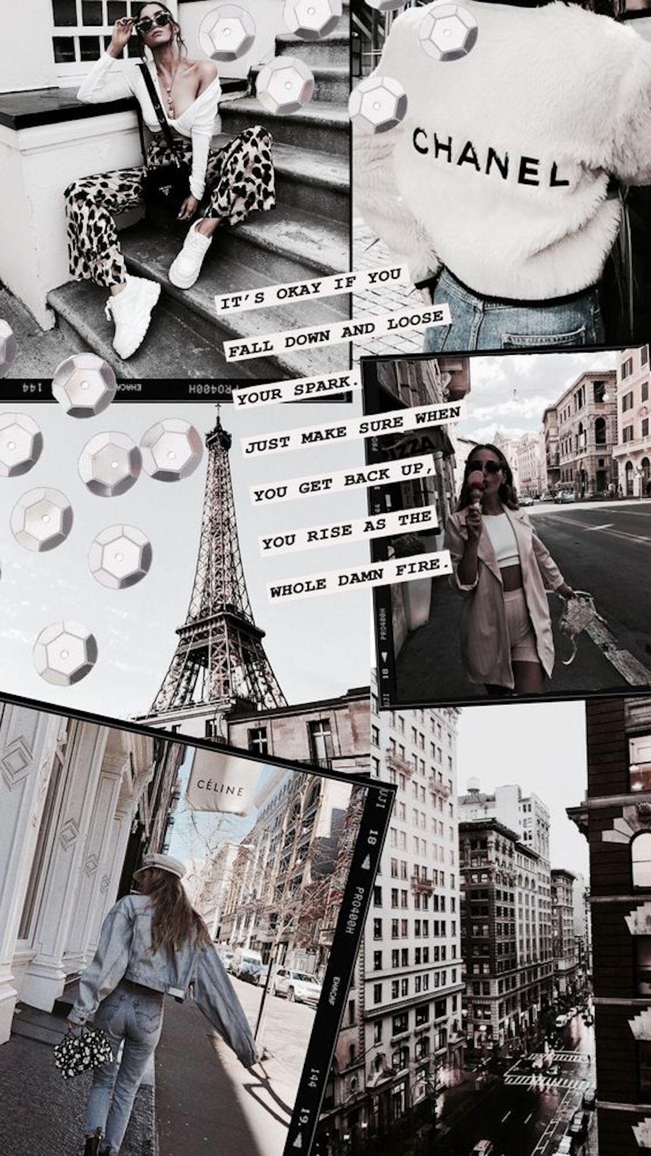 26 Fashion Collage bakgrunner for telefonen