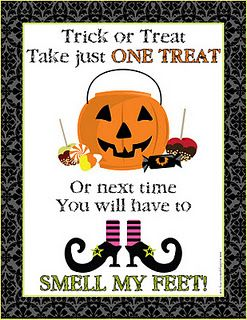 image about Trick or Treat Signs Printable identify Halloween Trick or Deal with signal printable FREEBIE #totally free