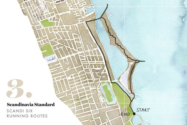 Scandi Six Running Routes in Copenhagen Copenhagen and Castles - new world map denmark copenhagen
