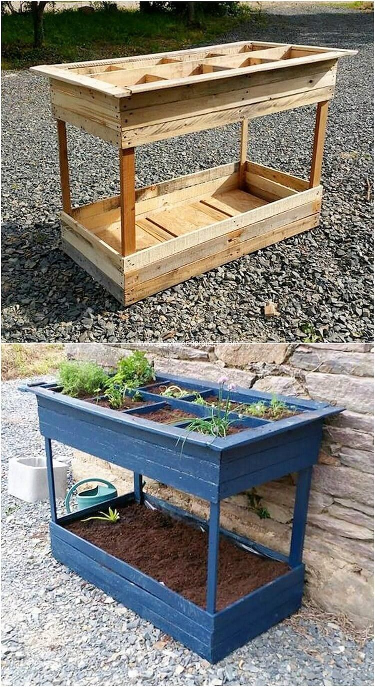 Quick and Easy to Build Wood Pallet Projects #erhöhtegartenbeete