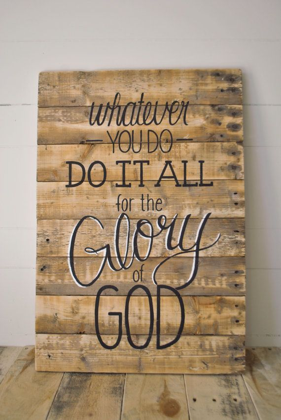 love ALL of these. Glory Reclaimed Wood Wall Sign Handpainted wall ...