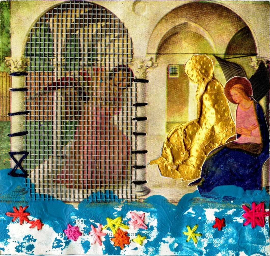 Small Paper Collage, Fray Angelico Revisited, Renaissance Art, Art ...