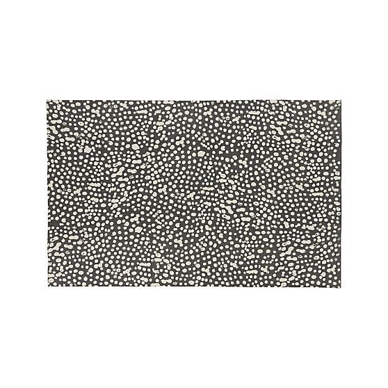 Tiger Large Splatter 6 X9 Rug Rugs Crate And Barrel Area Rugs