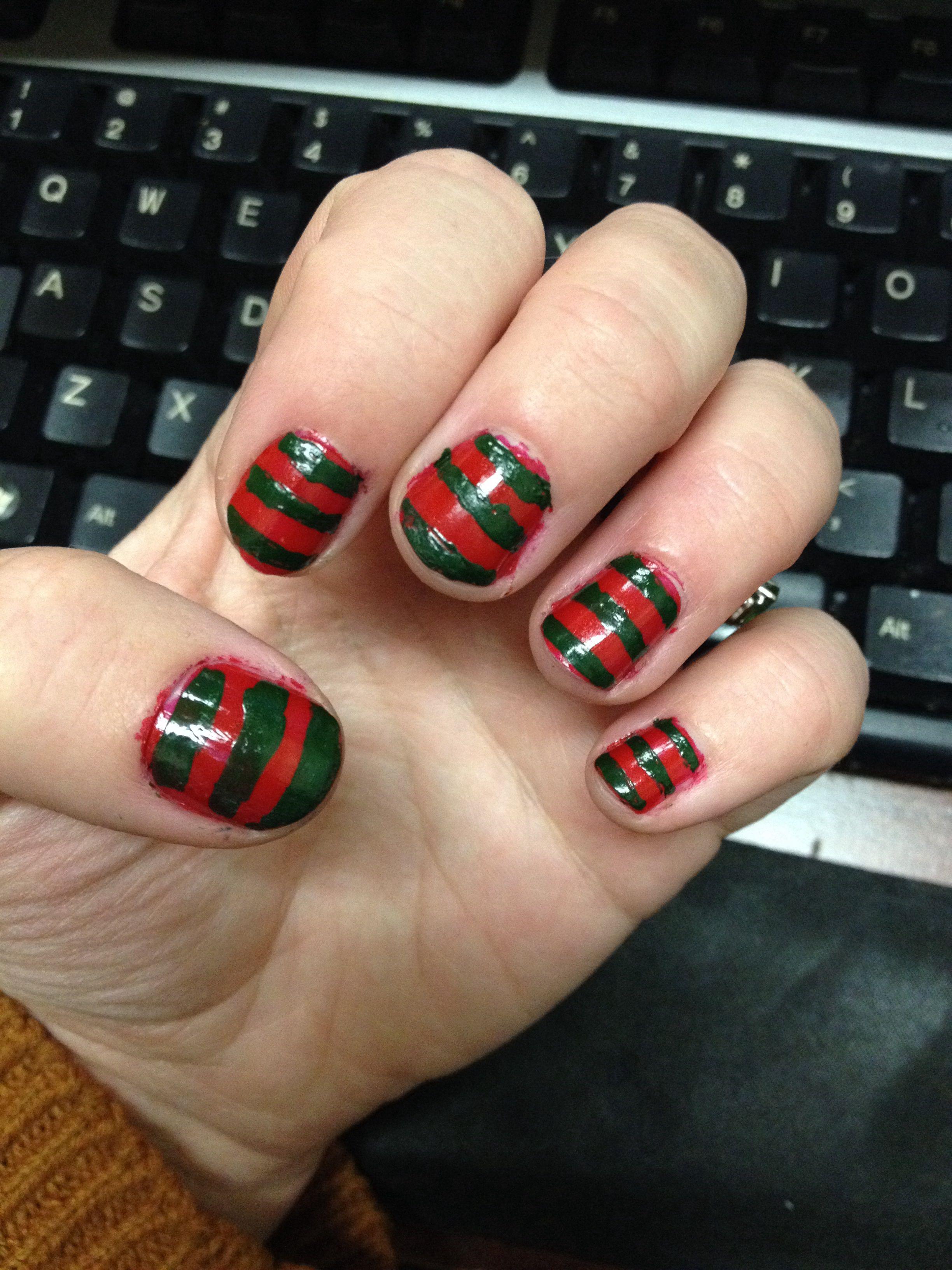 Freddy Krueger Nails Hair Makeup Nails