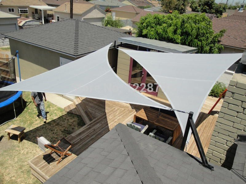 Custom Tailored Sun Shade Canopy Sail Polyester Mesh For Garden Playground Patio Roof Top Canvas Flexible