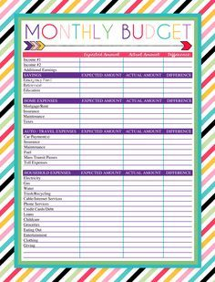 budget forms free download