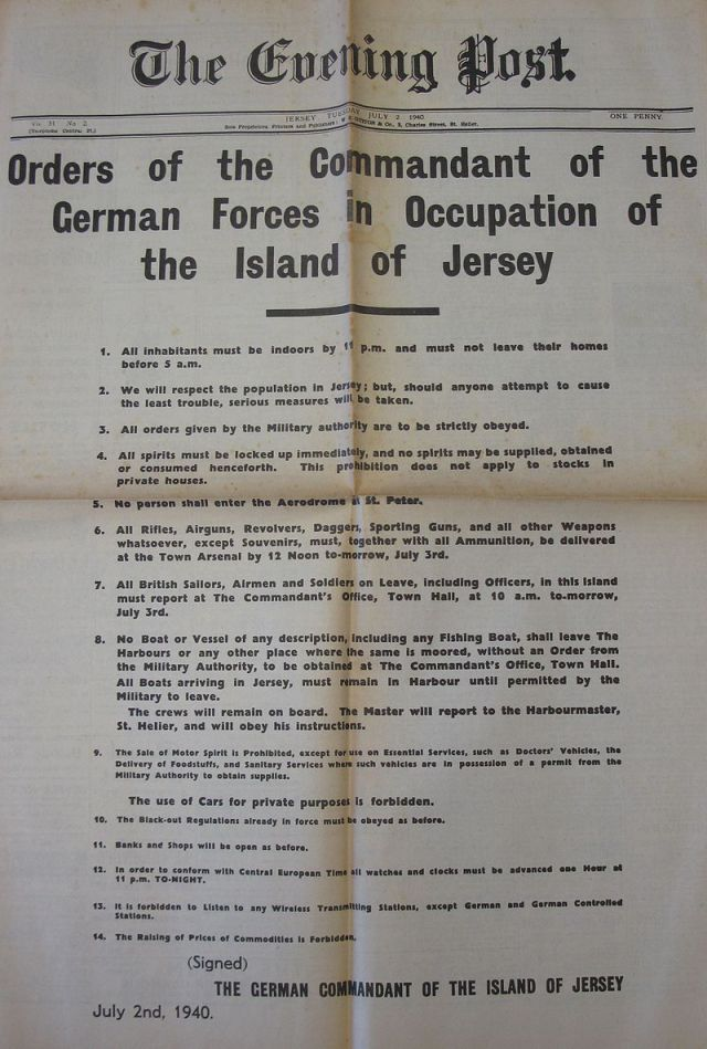 The Orders Of The German Commandant Guernsey Pinterest Book